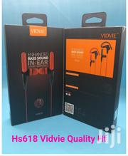 VIDVIE Sports Ear Hook Earphones Wired Headset With Microphone Earbuds | Headphones for sale in Nairobi, Nairobi Central