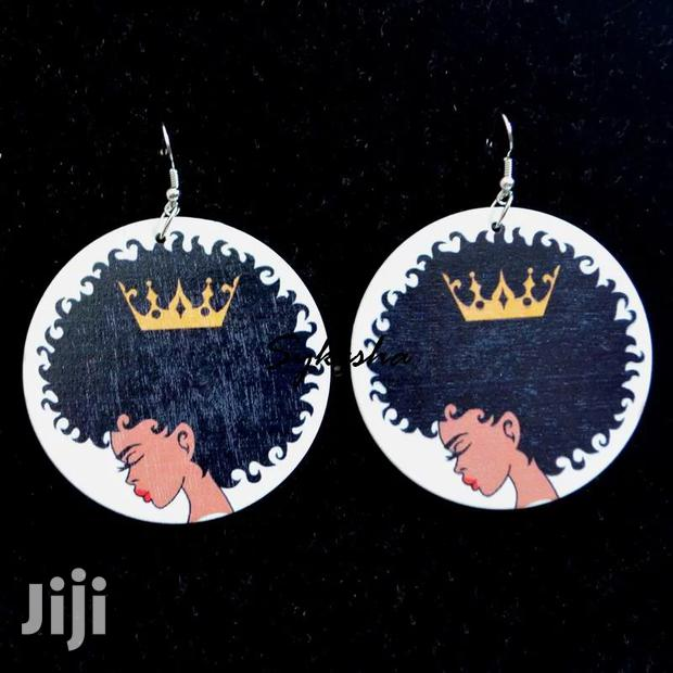 Archive: African Afro Women Wood Earings