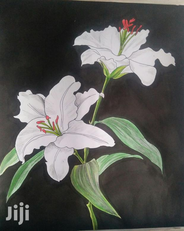 Archive: White Lily Flower Art