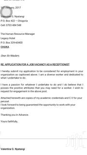 Front Office Job Opportunities | Clerical & Administrative CVs for sale in Nairobi, Ruai