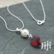 Cosmic Pearl Sterling Silver Necklace With Swarovski Crystal – Ruby | Jewelry for sale in Nairobi, Nairobi Central