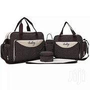 BROWN With White Polka Dots 5 In 1 Diaper Bag With Changing Mat | Baby & Child Care for sale in Nairobi, Westlands