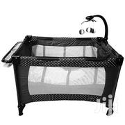 Baby Playpen Bed/ Baby Crib- Black With White Polka Dots | Children's Gear & Safety for sale in Nairobi, Westlands