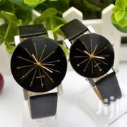 Couple Quartz Dial Clock Leather Wrist Watch Black | Home Accessories for sale in Nairobi, Nairobi Central